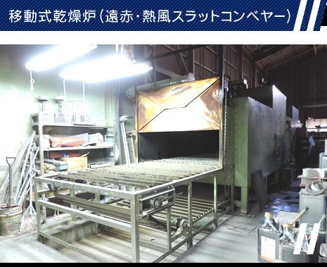 移動式乾燥炉(遠赤・熱風スラットコンベヤー)